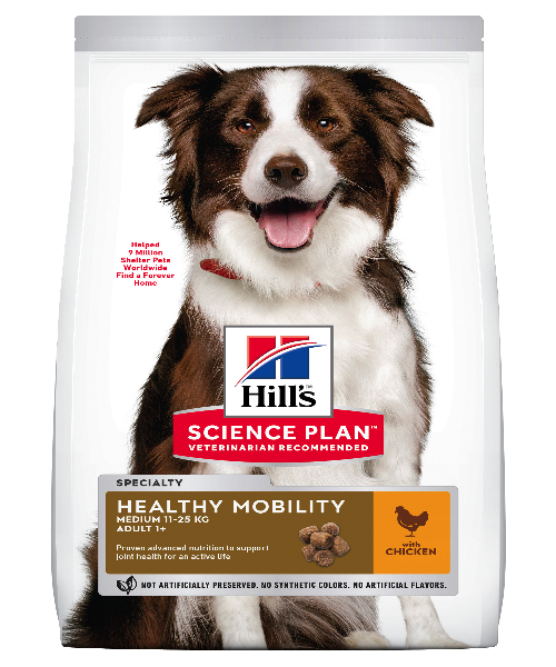 Hill's™ Science Plan™ Healthy Mobility Medium Chicken Adult Dog Food 12 KG - Pet Mall