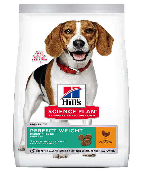 Hill's™ Science Plan™ Perfect Weight Medium Chicken Adult Dog Food 12 kg - Pet Mall