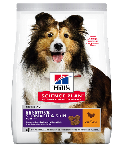 Hill's™ Science Plan™ Sensitive Stomach & Skin Chicken  Medium & Large Breed Adult Dog Food - Pet Mall