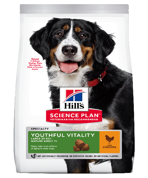 Hill's™ Science Plan™ Large Breed 5+ Youthful Vitality  Chicken & Rice Adult Dog Food 12 KG - Pet Mall