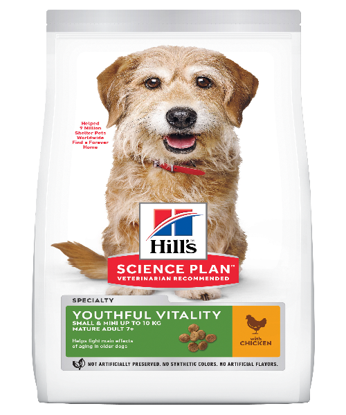 Hill's™ Science Plan™ Youthful Vitality Small & Mini 7+ Chicken & Rice Adult Dog Food - Pet Mall