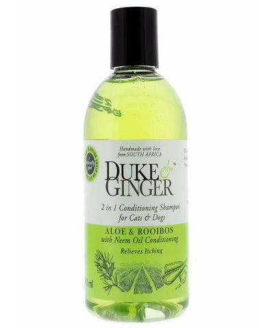 Duke & Ginger 2 in 1 Conditioning Shampoo for Cats & Dogs - Aloe & Rooibos - 250ml - Pet Mall