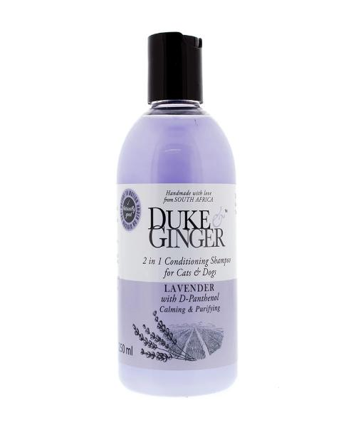 Duke & Ginger 2 in 1 Conditioning Shampoo for Cats & Dogs - Lavender - 250ml - Pet Mall