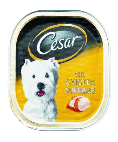 CESAR -WET DOG FOOD - Tray of 24pcs x 100g - Chicken Supreme - Pet Mall