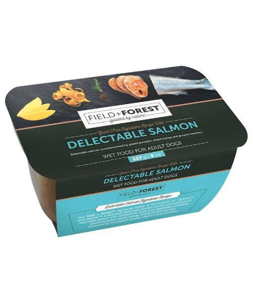 Field & Forest Delectable Salmon Wet Adult Dog Food Tubs 8 X 227g - Pet Mall