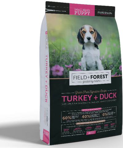 Field & Forest Turkey + Duck Small Puppy Grain Free - Pet Mall