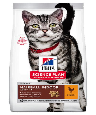 Hill's™ Science Plan™ Science Plan Adult Hairball Indoor Chicken Cat Food - Pet Mall