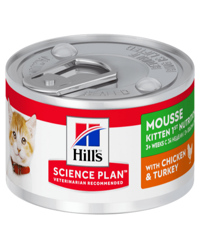 Hill's™ Science Plan™Chicken & Turkey Mousse Canned Kitten Food 82g x 12 - Pet Mall