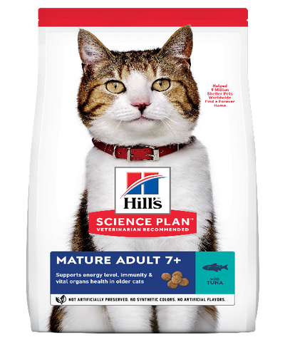 Hill's™ Science Plan™ Mature Adult 7+ Tuna Cat Food 1,5 KG - Pet Mall