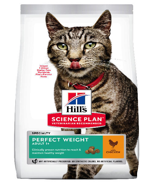 Hill's™ Science Plan™ Feline Adult Perfect Weight Chicken Cat Food - Pet Mall