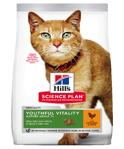 Hill's™ Science Plan™Feline Adult 7+ Youthful Vitality Chicken - Pet Mall