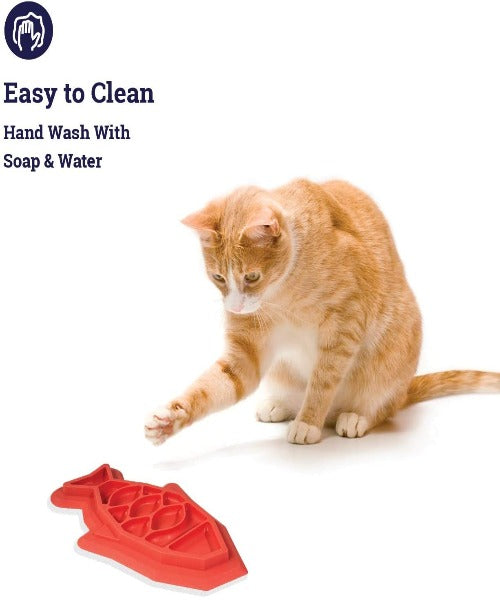 Outward Hound Fishy Fun Cat Feed Mat