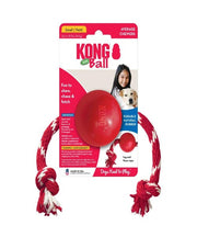 KONG Ball With Rope Dog Toy - Pet Mall