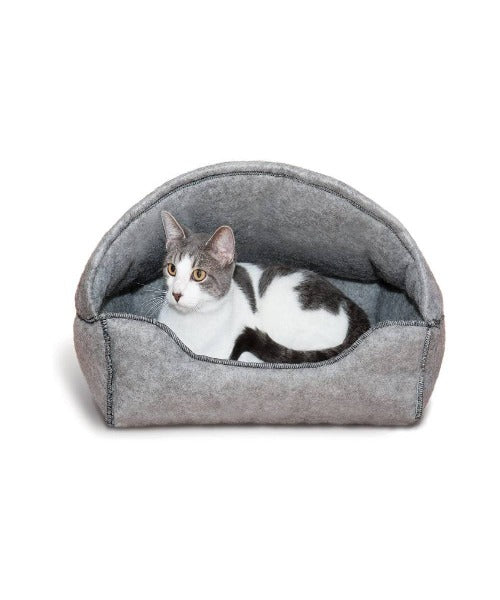 K&H Amazin Kitty Hooded Lounger Grey
