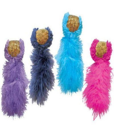 KONG Cork Ball Cat Toy, available in Pink, Turquoise, Navy or Purple - Pet Mall