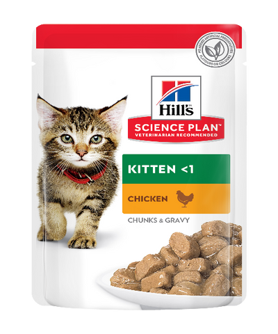Hill's™ Science Diet™ Chicken & Rice Kitten Food Pouches 12 X 85g - Pet Mall