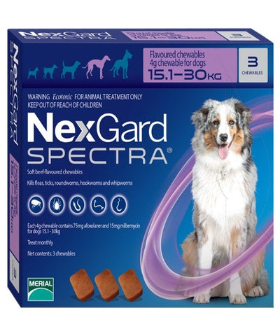 NEXGARD SPECTRA LARGE 15 - 30KG (4G) - Pet Mall