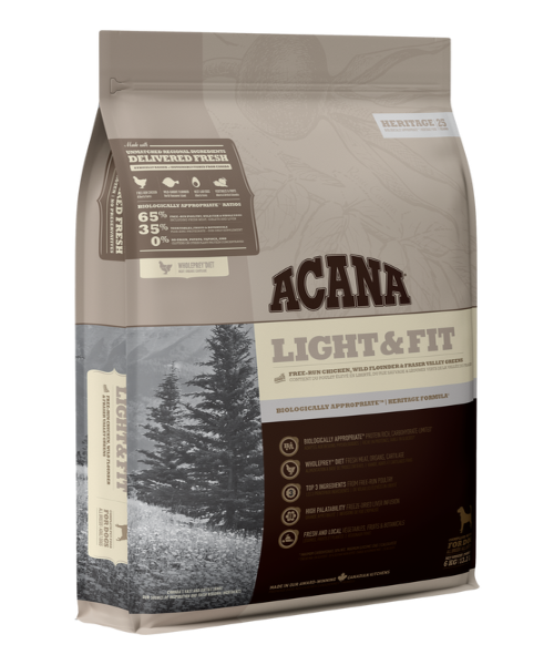 Acana Heritage Light & Fit Dog Food - Pet Mall