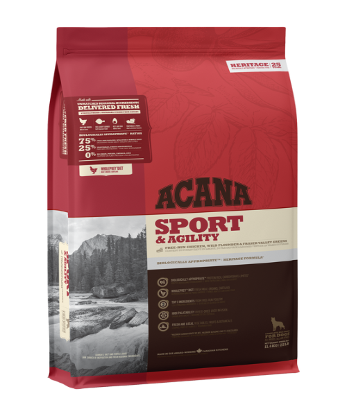 Acana Heritage Sport & Agility Dog Food - Pet Mall