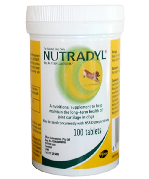 NUTRADYL TABLETS 100'S HEALTHY JOINTS CARTILAGE - Pet Mall