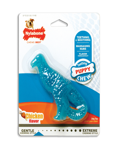Nylabone Puppy Teething Dental Dino (Chicken)