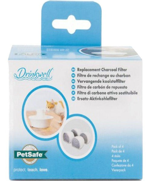 Drinkwell Fountain Replacement Filters 4 Pack