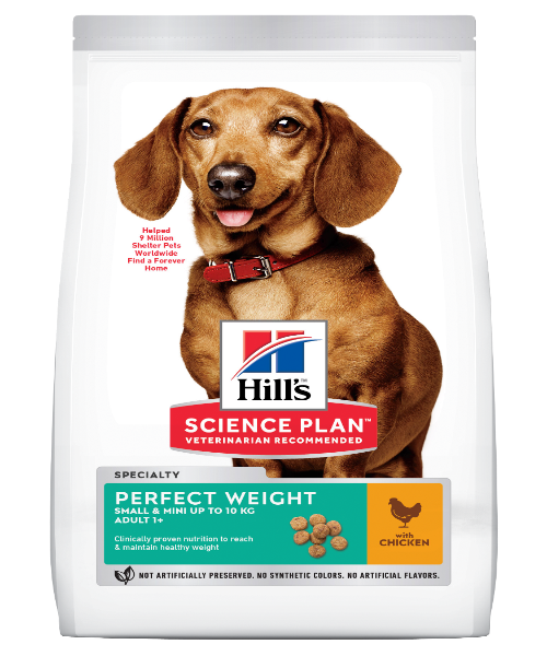 Hill's™ Science Plan™ Perfect Weight Small & Mini Chicken Adult Dog Food - Pet Mall