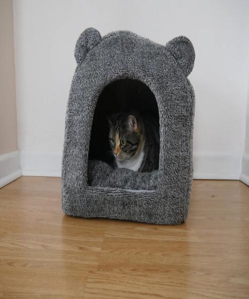 Rosewood Teddy Bear Cat Bed - Pet Mall