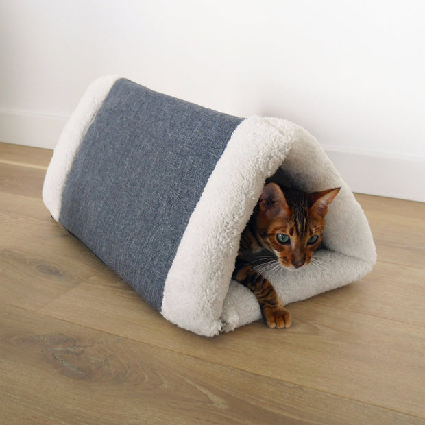 Rosewood Snuggle Plush 2 in 1 Cat Comfort Den - Pet Mall