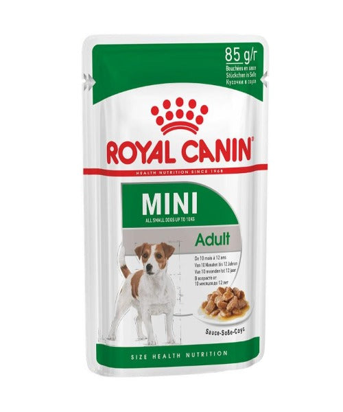 Royal Canin Mini Adult Dog Wet Food Pouches 12 x 85g