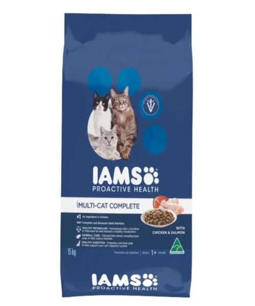 IAMS MultiCat with Chicken & Salmon Cat Food - Pet Mall