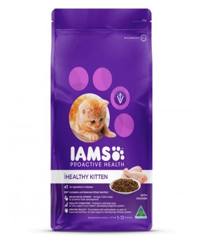 IAMS Healthy Kitten With Chicken Cat Food - Pet Mall