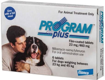 PROGRAM PLUS 23MG 23-45KG WHITE 6'S - Pet Mall