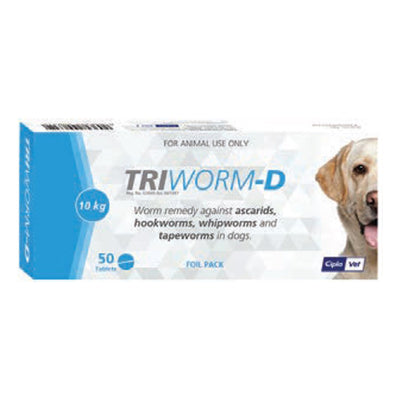 TRIWORM-D FOIL for DOGS LARGE 50'S (FOIL PACK) - Pet Mall