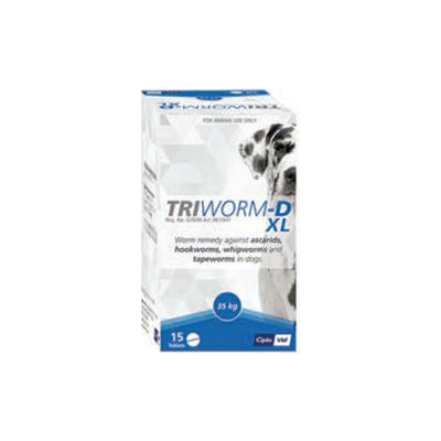 TRIWORM-D TUBS DOGS XL 15'S - Pet Mall