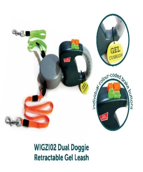 Wigzi Dual Doggie Retractable Gel Leash - Pet Mall