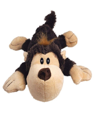 KONG COZIE Brown Funky Monkey Plush Dog Toy - Pet Mall
