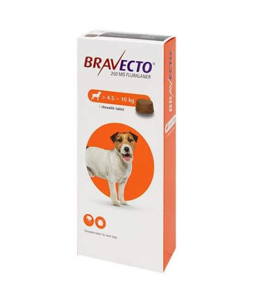 Bravecto Chewable Tick & Flea Tablet for Small Dogs (4.5-10kg)