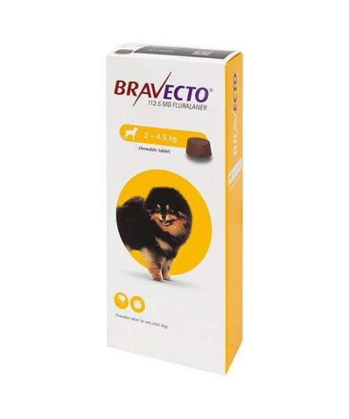 Bravecto Chewable Tick & Flea Tablet for Toy Dogs (2 - 4.5KG)