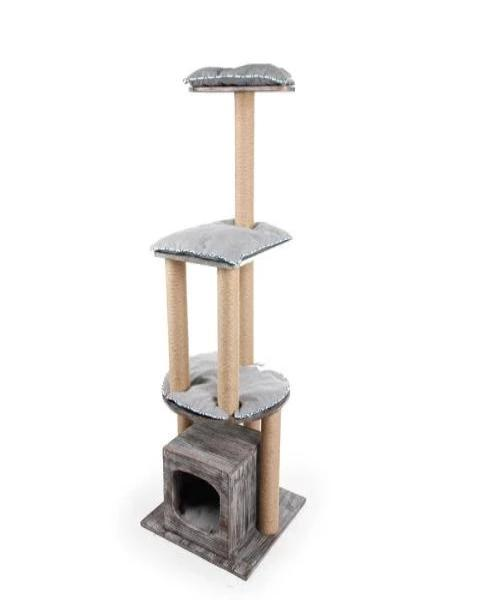 All For Paws Vintage Cat 3-Level Cat Furniture - Pet Mall