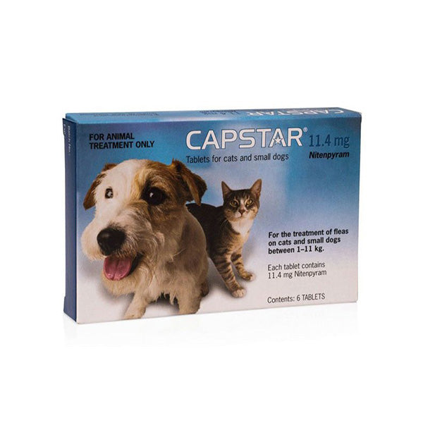 CAPSTAR 11.4MG  6'S FLEA TREATMENT FOR SMALL CATS AND DOGS - Pet Mall