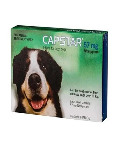 CAPSTAR 57MG  6'S FLEA TREATMENT FOR LARGE CATS AND DOGS - Pet Mall