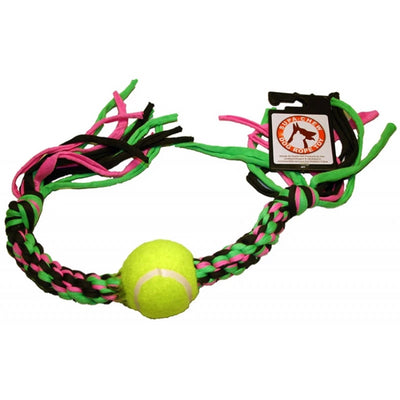 Supa-Chew Bone Rope Dog Toy with 1 Ball - Pet Mall