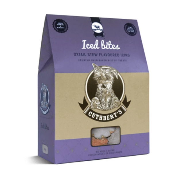 Cuthbert's Iced Bites Oxtail Flavoured Dog Biscuits - Pet Mall