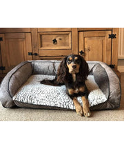 Rosewood Luxury Fleece Lined Plush Sofa MD 74cm - Pet Mall