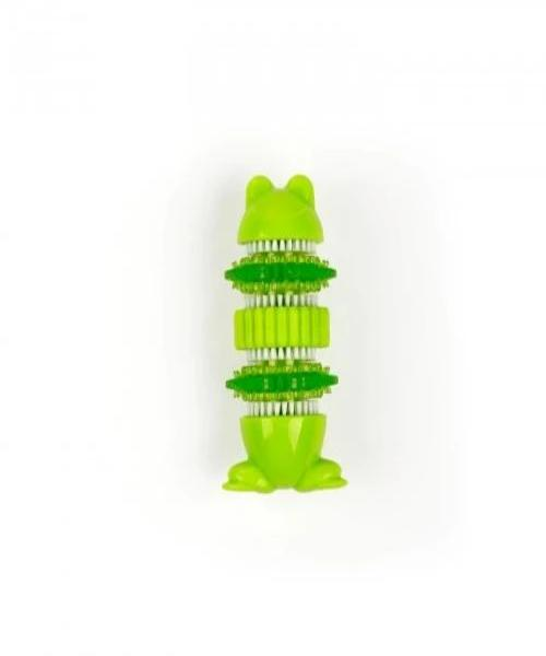 All For Paws Sparkles Self Brushing Frog with Peanut Butter Toothpaste - Pet Mall