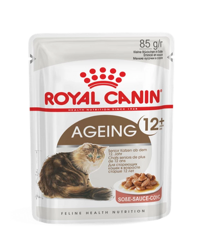 Royal Canin Ageing 12+ Gravy Adult Cat Food 12 x 85 g - Pet Mall