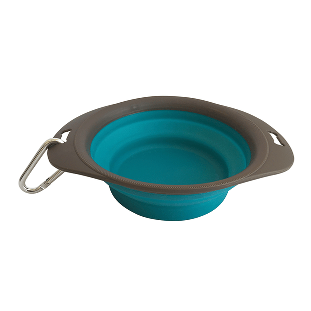 M-PETS On-the-Road Turquoise Foldable Dog Bowl - Pet Mall
