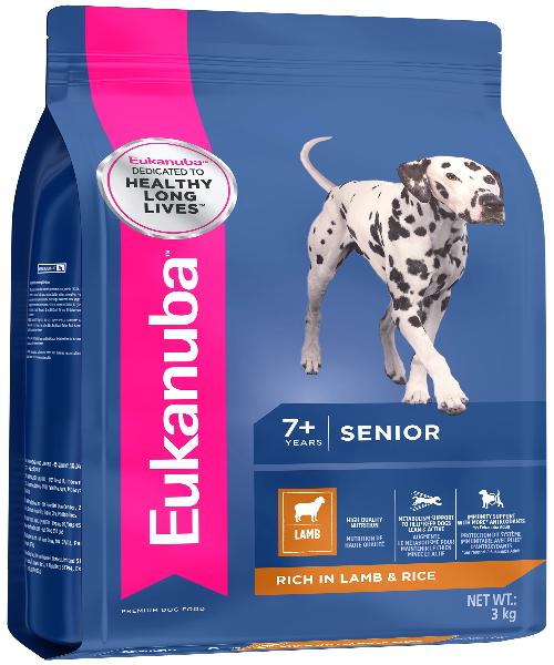 EUKANUBA Senior All Breed Lamb & Rice Dog Food - Pet Mall