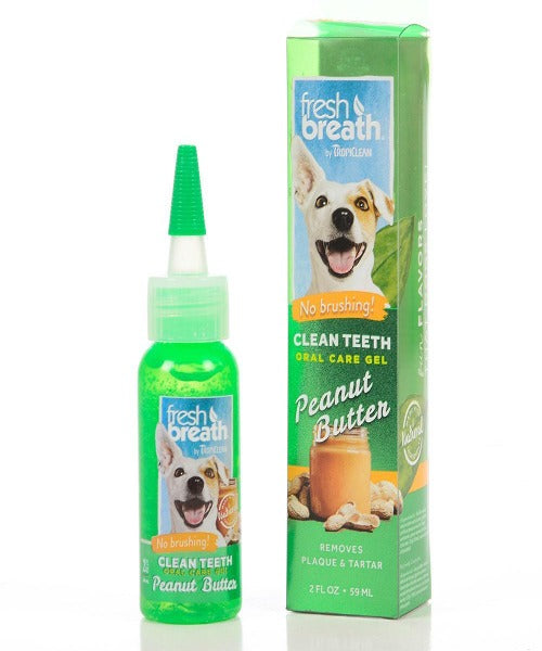 Tropiclean Fresh Breath Clean Teeth Oral Care Gel With Peanut Butter 130ml
